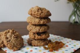 Cookies de avena y pasas