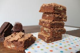 Brownies de chocolate con nueces