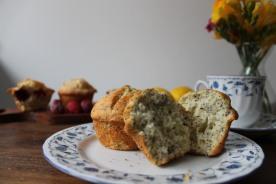 Muffins de limón y amapola